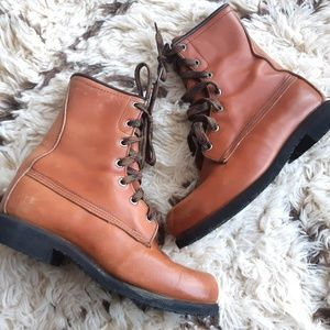 Browning Leather Boots | Brown lace ups unisex 5-6